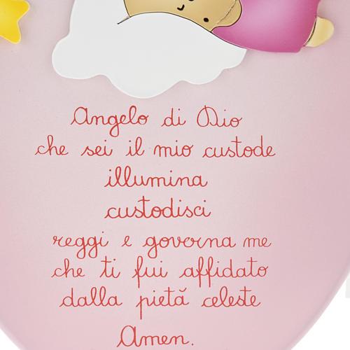Pala bassorilievo angelo con bimbo che dorme ovale 3