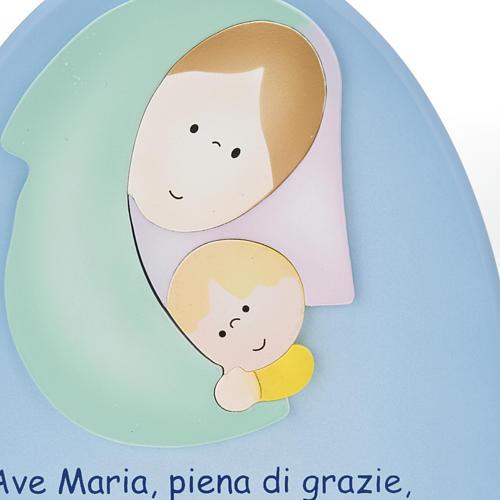 Pala bassorilievo Ave Maria ovale 2
