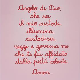Pala bassorilievo Angelo custode con preghierina s2