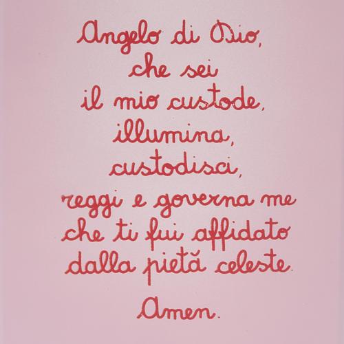 Pala bassorilievo Angelo custode con preghierina 2