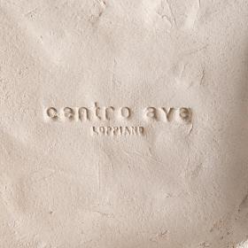 Quadro argilla bianca Madonna dell'Ascolto 31 cm s4