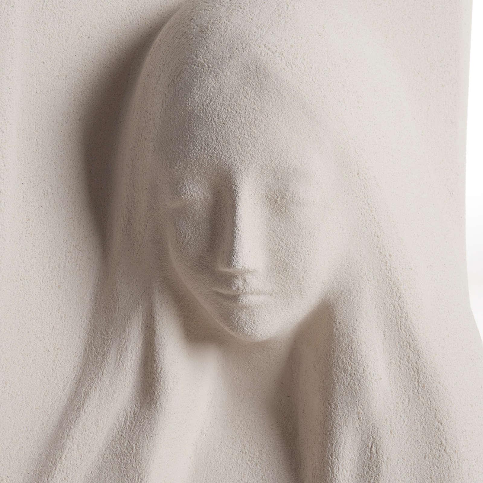 Quadro argila branca Nossa Senhora da Ouvida 31 cm 4