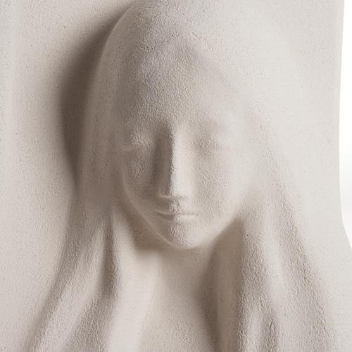 Quadro argila branca Nossa Senhora da Ouvida 31 cm 2
