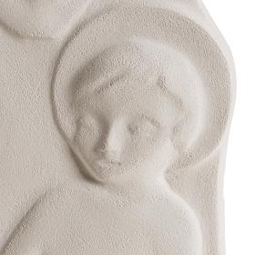 Bassorilievo Maria Regina argilla 47 cm s3