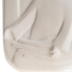 Bassorilievo Maria Regina argilla 47 cm s4