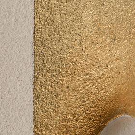 Bas relief Vierge à l'enfant or argile 29.5 cm s3