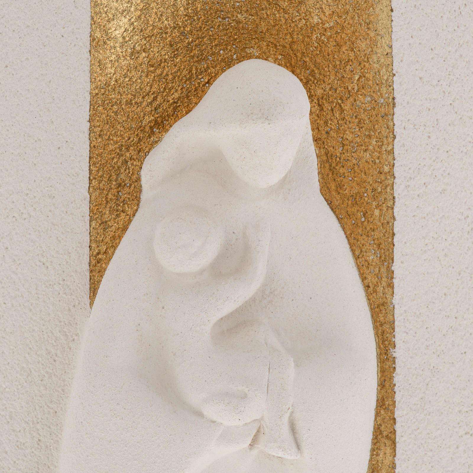 Bassorilievo Maria Gold illuminato h 29,5 cm 4