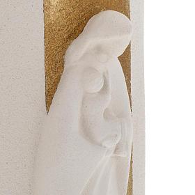 Bassorilievo Maria Gold illuminato h 29,5 cm s5