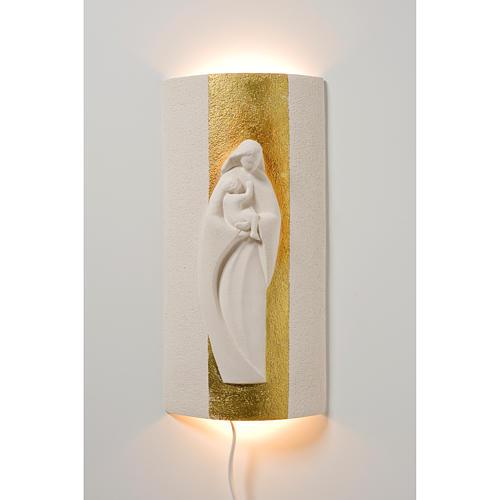 Bassorilievo Maria Gold illuminato h 29,5 cm 2