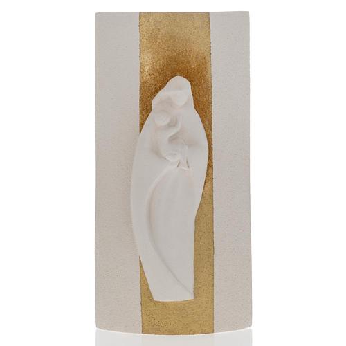 Bassorilievo Maria Gold illuminato h 29,5 cm 1