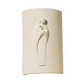 Bassorilievo argilla bianca Maria Stele 17,5 cm s1