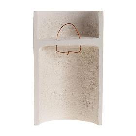 Bassorilievo argilla bianca Maria Stele 17,5 cm s3