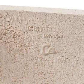 Bassorilievo argilla bianca Maria Stele 17,5 cm s4