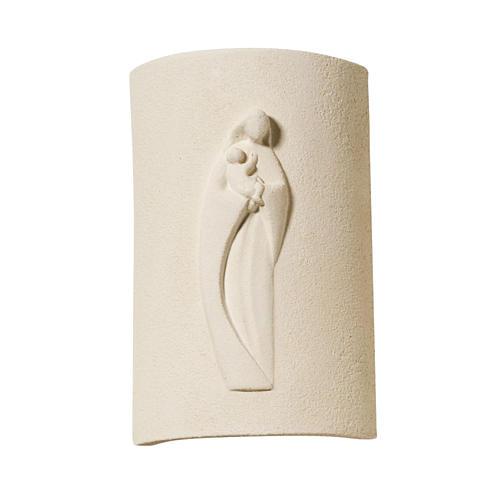 Bassorilievo argilla bianca Maria Stele 17,5 cm 1