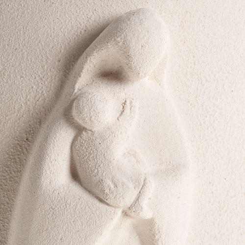 Bassorilievo argilla bianca Maria Stele 17,5 cm 2