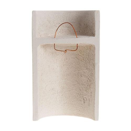 Bassorilievo argilla bianca Maria Stele 17,5 cm 3