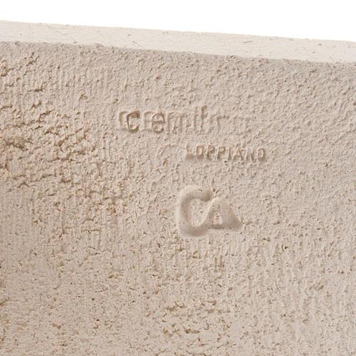 Bassorilievo argilla bianca Maria Stele 17,5 cm 4