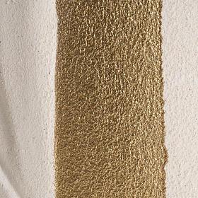Bassorilievo Maria Gold argilla bianca h 17,5 cm s3
