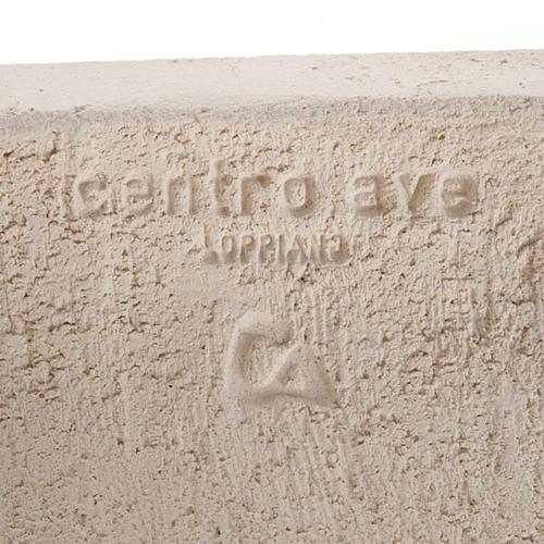 Bassorilievo Maria Gold argilla bianca h 17,5 cm 5