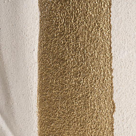 Baixo-relevo Maria Gold argila branca h 17,5 cm s3