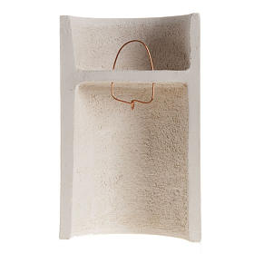 Baixo-relevo Maria Gold argila branca h 17,5 cm s4