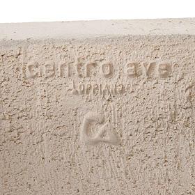 Baixo-relevo Maria Gold argila branca h 17,5 cm s5