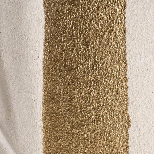 Baixo-relevo Maria Gold argila branca h 17,5 cm 3