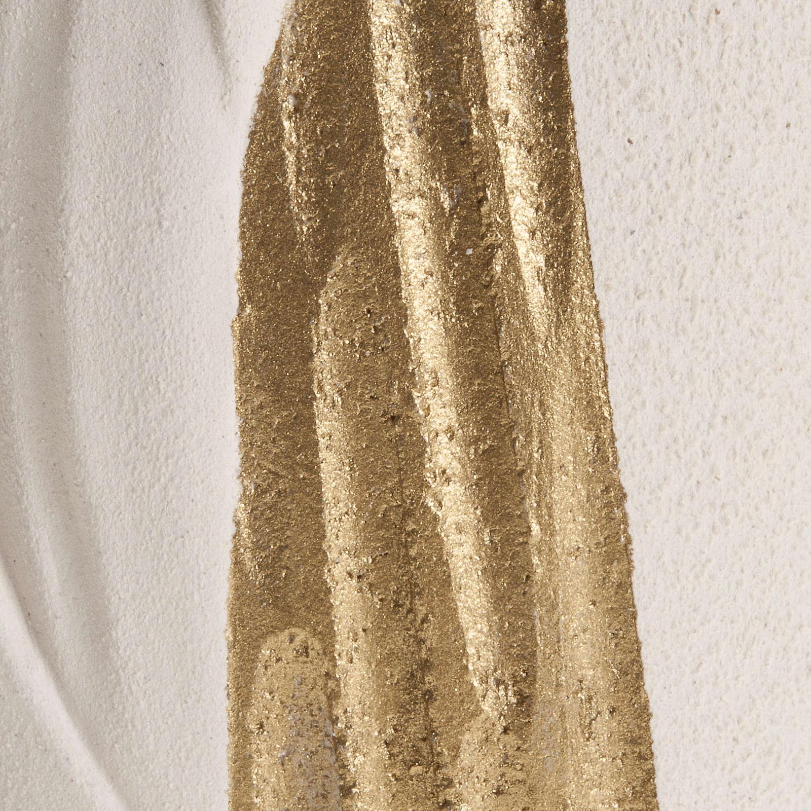Bassorilievo Maria Gold con raggi h 17,5 cm 4