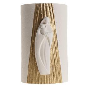 Bassorilievo Maria Gold con raggi h 17,5 cm s7