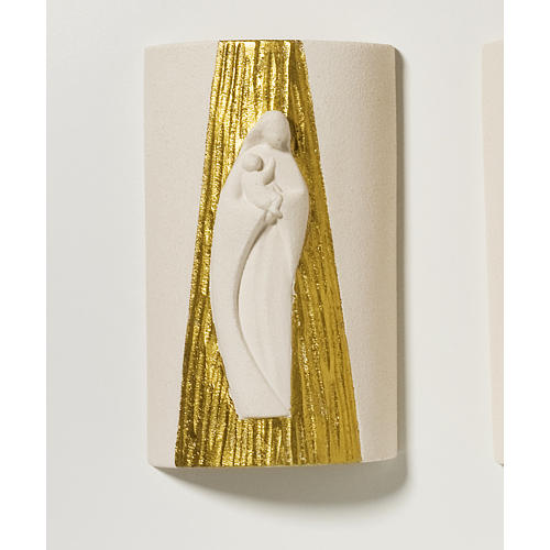 Bassorilievo Maria Gold con raggi h 17,5 cm 1