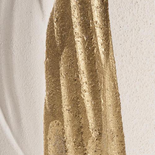 Bassorilievo Maria Gold con raggi h 17,5 cm 3