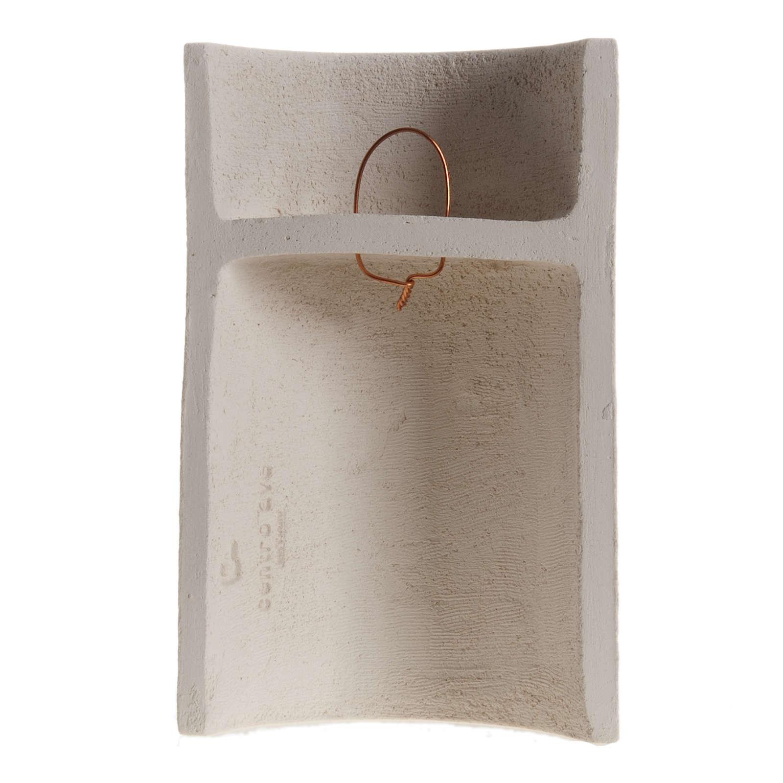 Bassorilievo Maria Gold argilla refrattaria h 17,5 cm 4