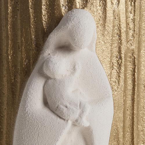 Bassorilievo Maria Gold argilla refrattaria h 17,5 cm 3