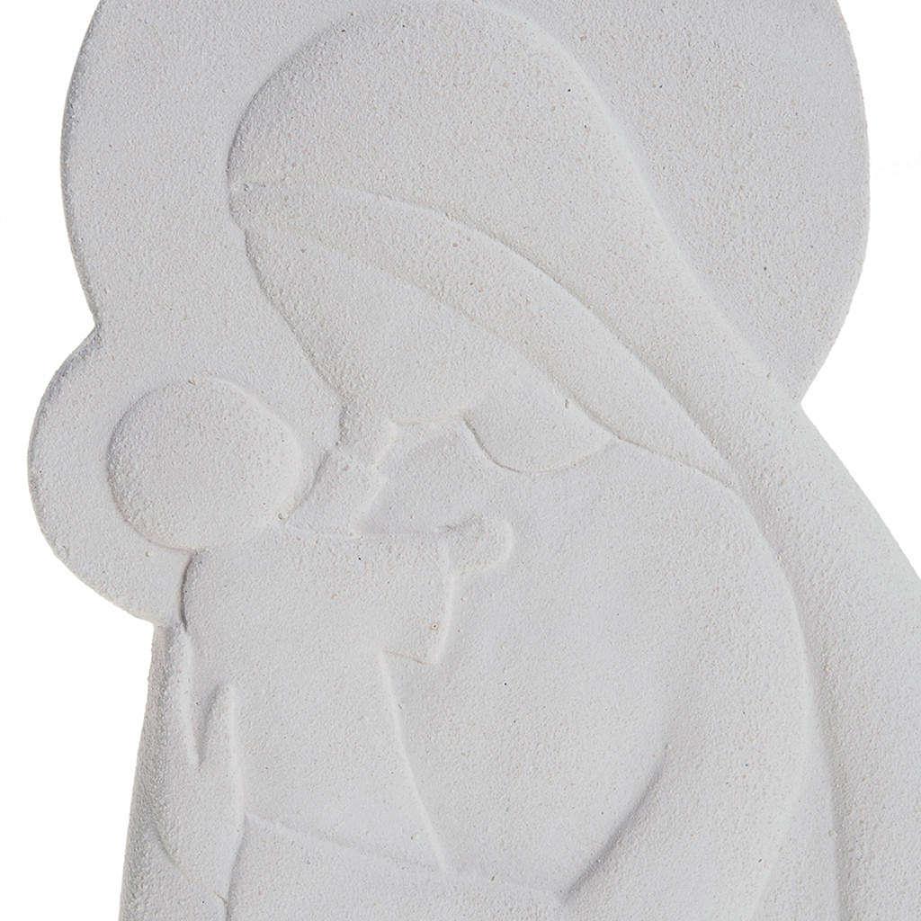Bas relief Vierge à l'enfant mod. Confiance 21 cm 4