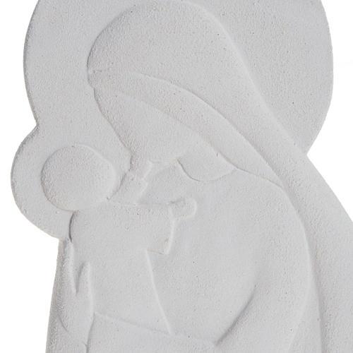 Bas relief Vierge à l'enfant mod. Confiance 21 cm 2