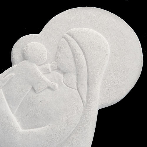 Bas relief Vierge à l'enfant mod. Confiance 21 cm 3