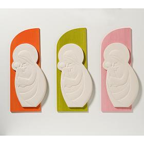 Bas relief Vierge à l'enfant mod. Confiance couleur s2