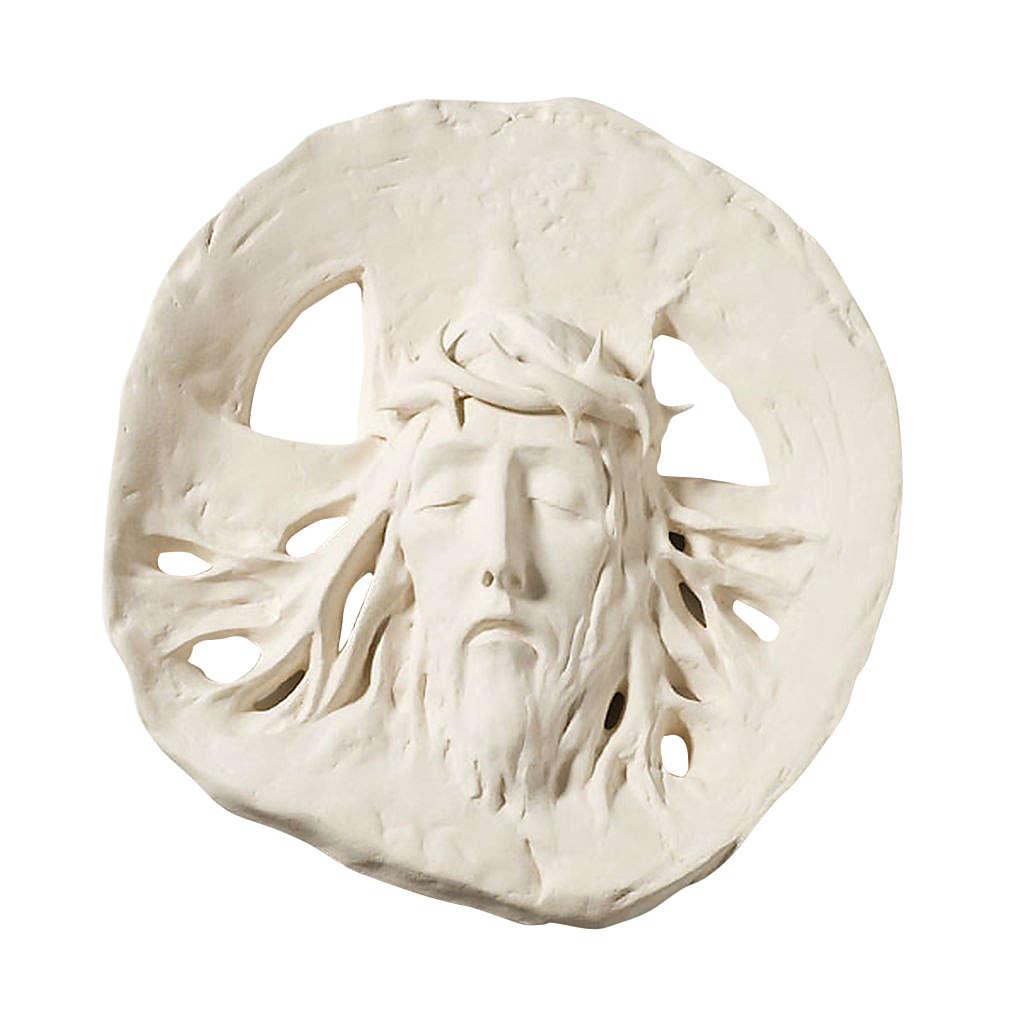 Bas relief Ecce Homo argile réfractaire 60 cm 4
