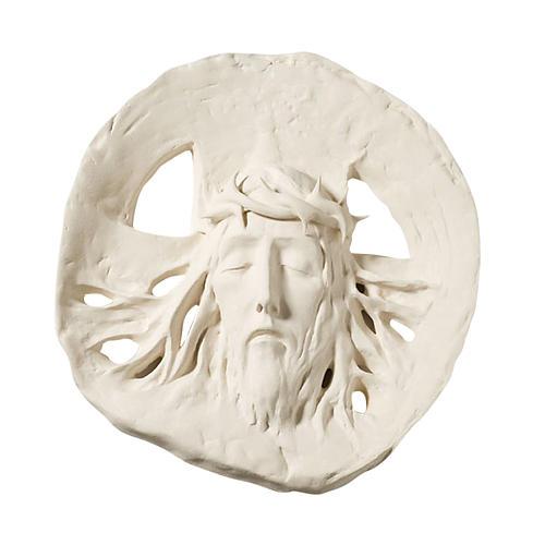 Bas relief Ecce Homo argile réfractaire 60 cm 1