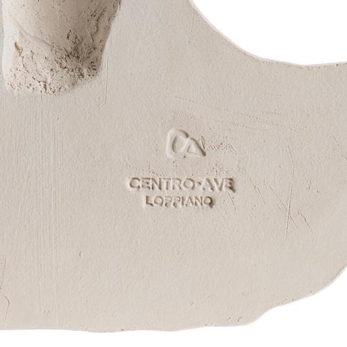 Bas relief Visage de Christ argile blanche 24 cm 5