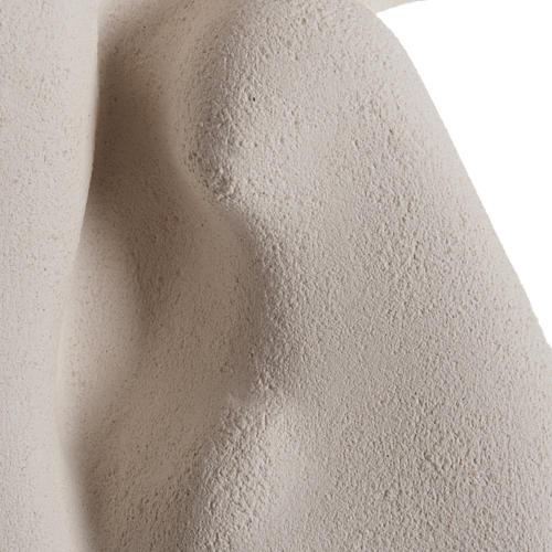 Bassorilievo Crocifissione stilizzata argilla bianca 40 cm 3