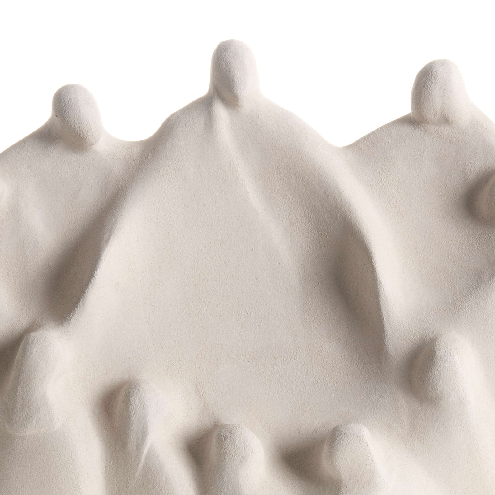 Bassorilievo Ultima Cena stilizzata argilla bianca 4