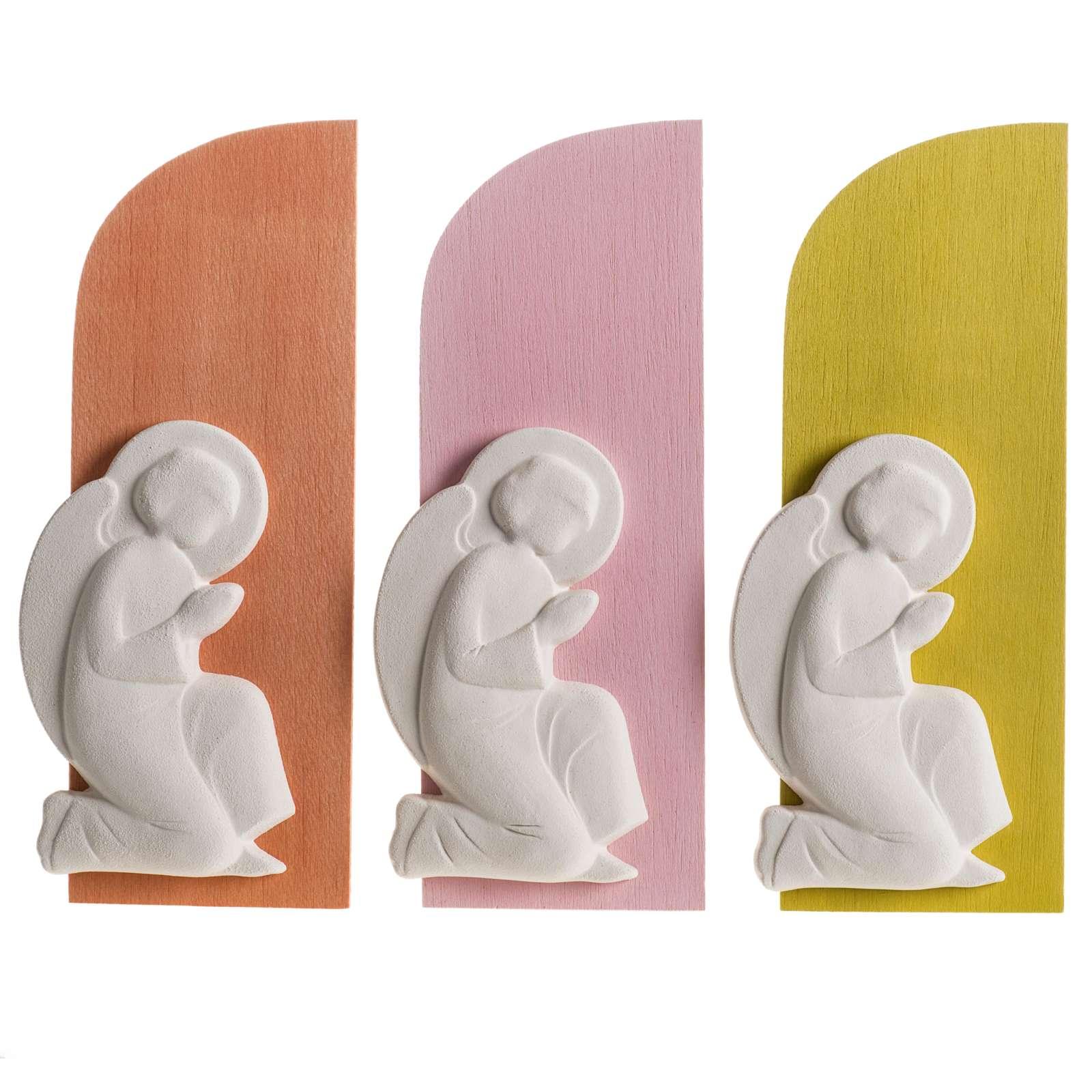 Bajorrelieve base de colores con ángel 4