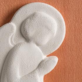 Bassorilievo colorato angelo supplique destra s3