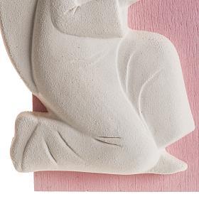 Bassorilievo colorato angelo supplique destra s4