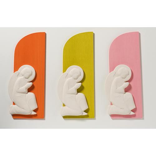 Bassorilievo colorato angelo supplique destra 1