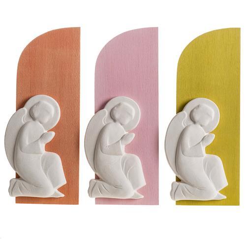 Bassorilievo colorato angelo supplique destra 2