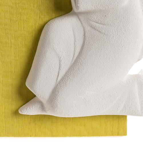 Bassorilievo colorato angioletto supplique sinistra 4