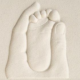 Cuadro en bajorrelieve Nacimiento de porcelana s2