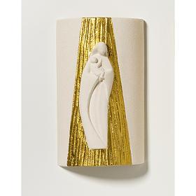 Bassorilievo Madonna da parete legno Val Gardena naturale s1